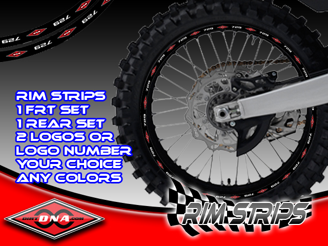Dirtdna Rim Strip Decals